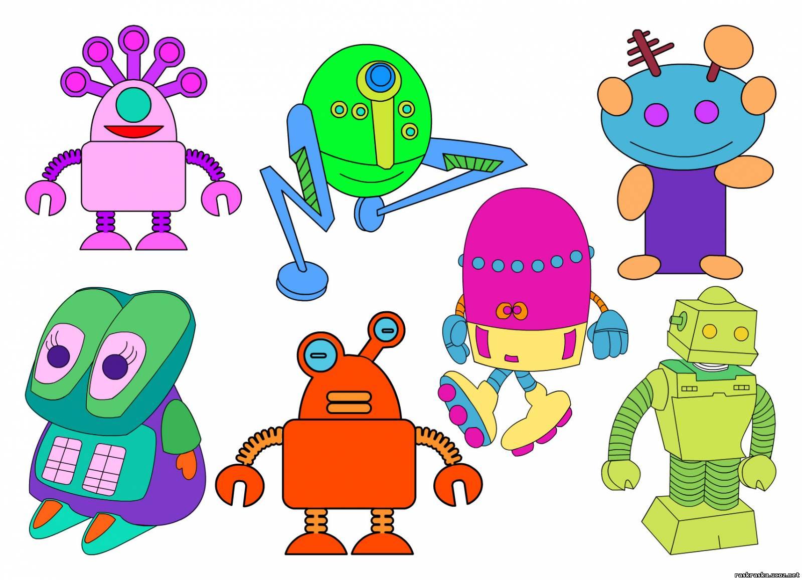Раскраска роботы - Посмотри, очисть и раскрась ...