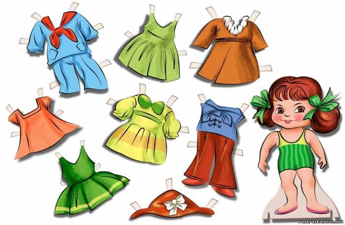 Как нарисовать одежду для барби
