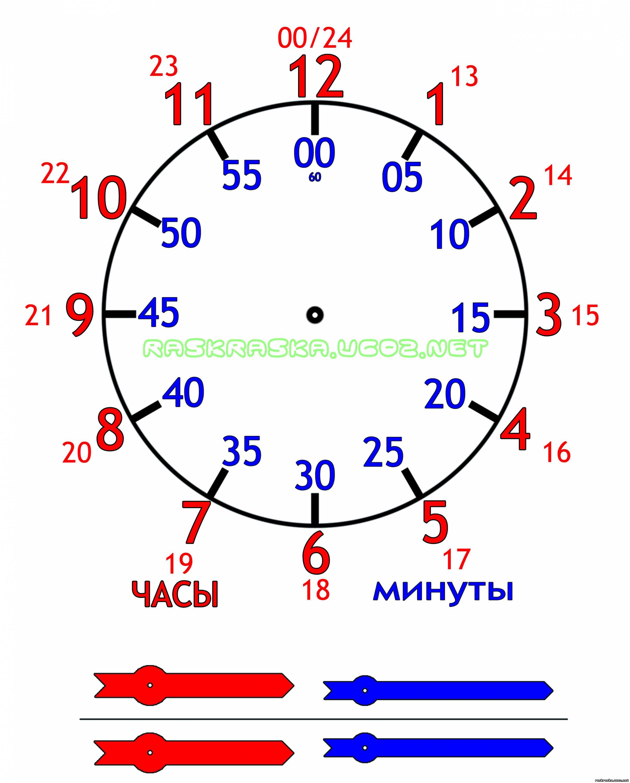 Часы для изучения время с детьми своими руками