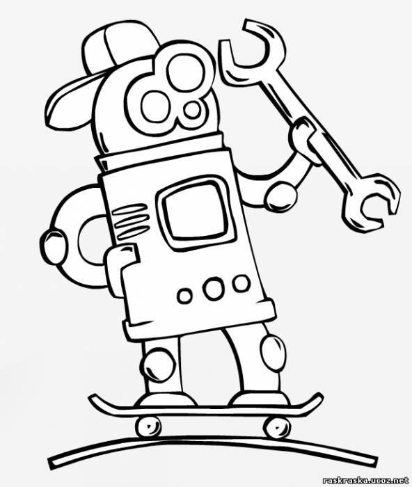 Раскраска Робот - Прочее - Разукрашки и ... - Фотоальбомы ...