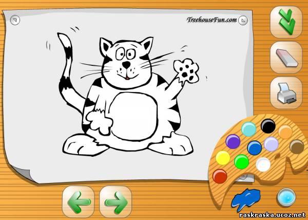 Бесплатные онлайн раскраски для детей