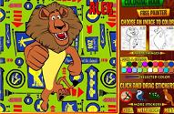 Игра Онлайн раскраски героев мультфильма «Мадагаскар»: Алекс, Глория, Марти, Мелман.
